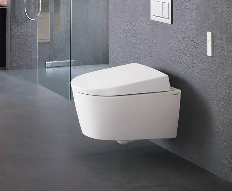 h ngendes wc mit bidet aquaclean sela by geberit italia design matteo thun. Black Bedroom Furniture Sets. Home Design Ideas