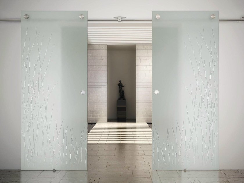 Glass and Stainless Steel Sliding door