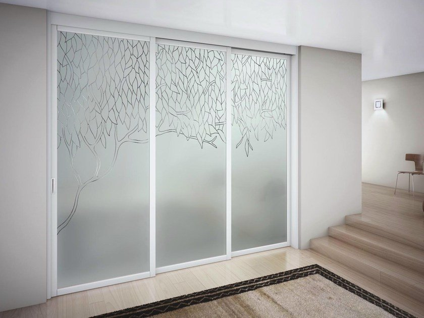 Sliding door with a fixed wing SLIM R1 by FOA