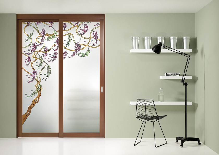 Sliding door with a fixed wing ARIANNA by FOA