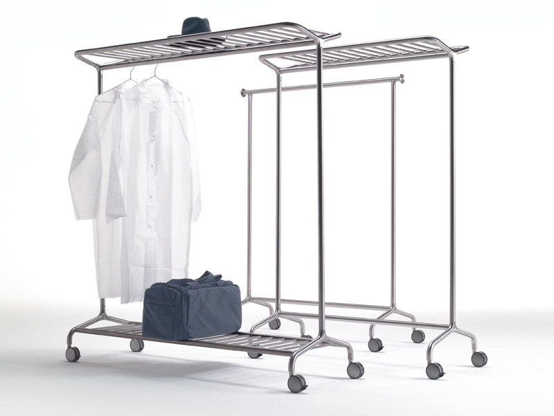 Brushed steel coat rack NOX VESTA by REXITE