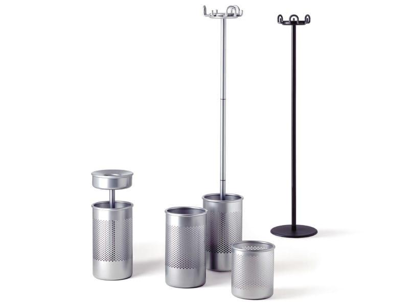 Standing steel coat rack