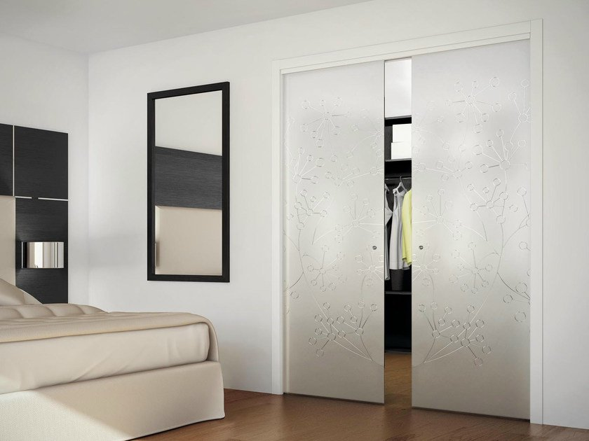 concealed in wall sliding door sinthesy light by foa On in wall sliding door
