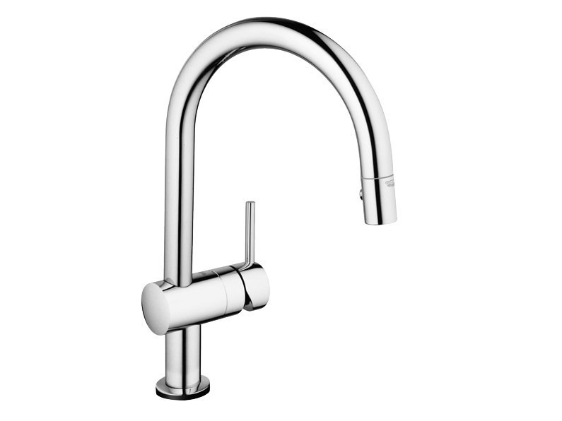 Kitchen mixer tap with pull out spray MINTA TOUCH - Grohe