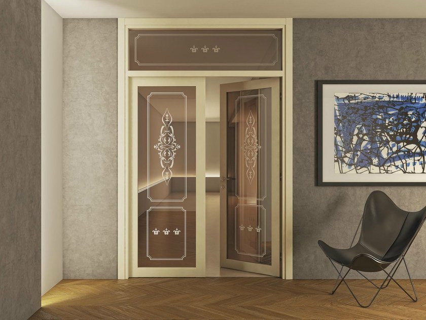 Double swing door with transom ARIANNA by FOA