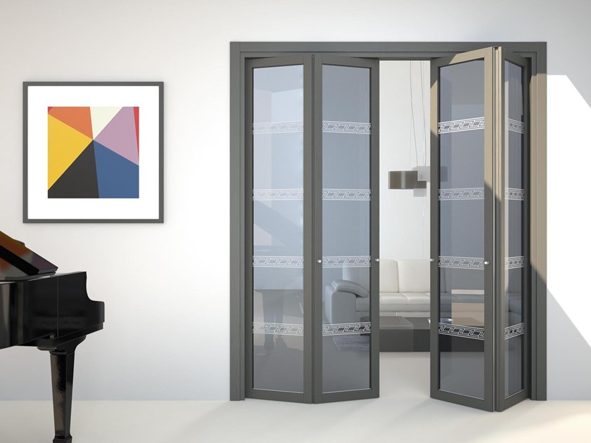 porte pliante en verre flat f1 by foa. Black Bedroom Furniture Sets. Home Design Ideas