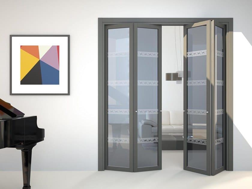 Porte pliante en verre flat f1 by foa for Porte pliante