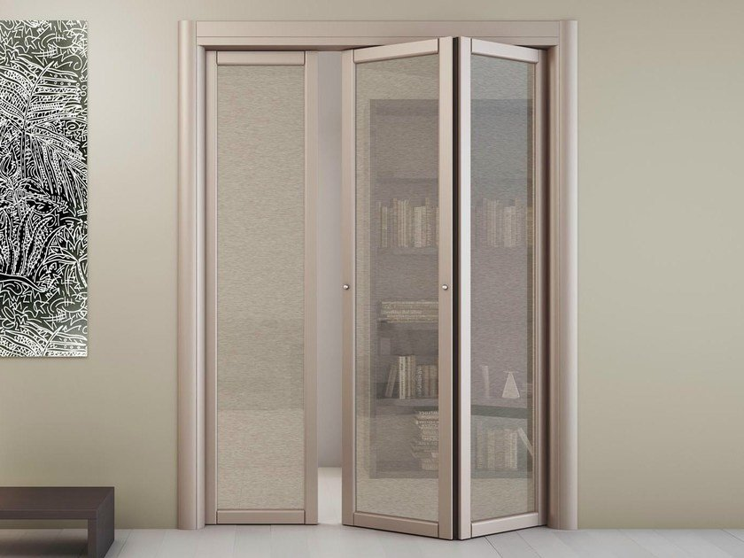 Three-wing centre split folding door SLIM R1 - FOA