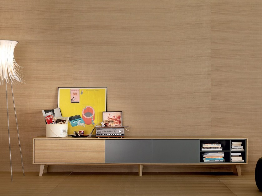 Solid wood sideboard AURA C2 - TREKU