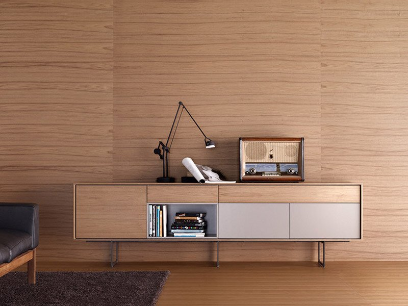 Solid wood sideboard aura s1 by treku design angel mart for Mobili norvegesi