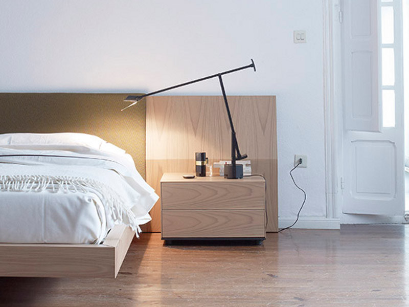 Solid wood bedside table with drawers LAUKI | Bedside table by TREKU