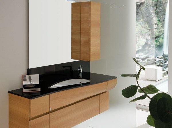 Vanity unit with cabinets with mirror AB 7027 - RAB Arredobagno