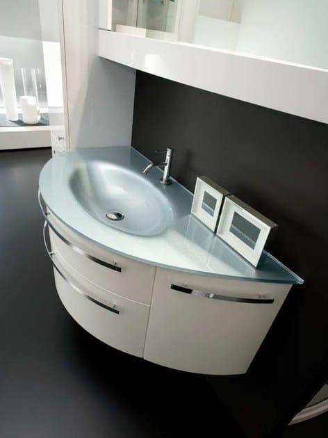 Mobile lavabo con armadio con specchio ab 219   rab arredobagno