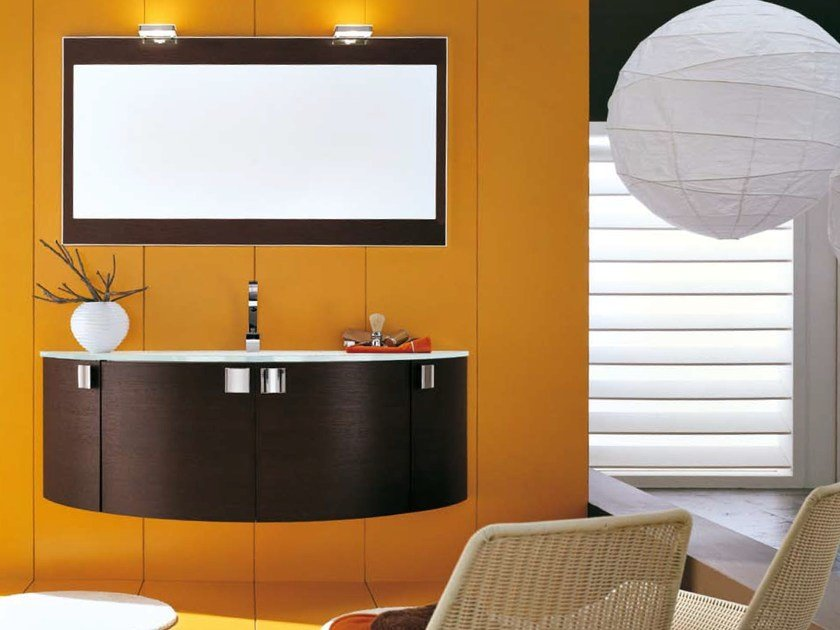 Single vanity unit with doors AB 502 by RAB Arredobagno