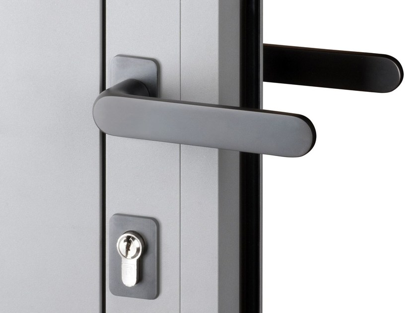 Stainless steel window and door handle Purity™ by Reynaers Aluminium