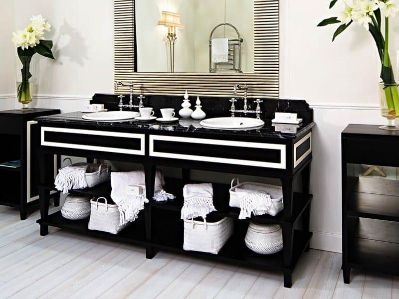 Mobile lavabo doppio in stile classico NOTTINGHAM 200  Mobile bagno doppio - GENTRY HOME