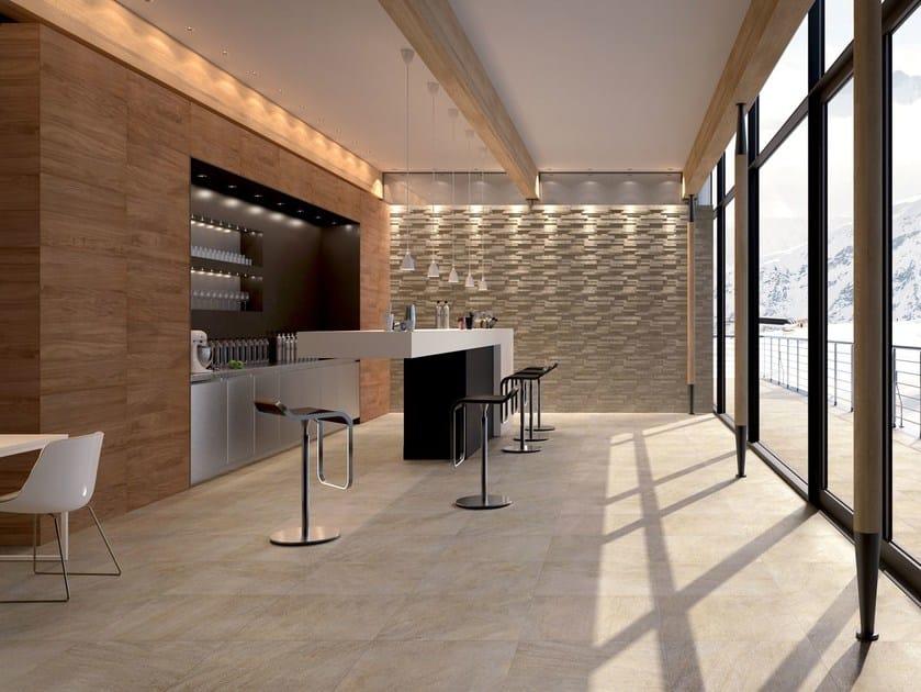 Pavimento rivestimento per interni ed esterni percorsi extra pietra di barge ceramiche keope - Rivestimenti in pietra per interni moderni ...