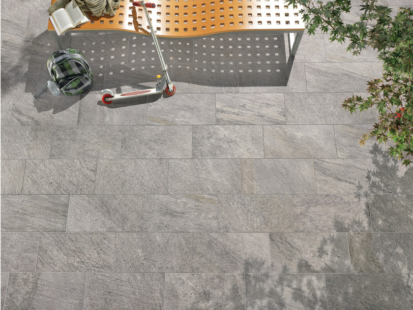 Indoor/outdoor wall/floor tiles PERCORSI QUARTZ  GREY by CERAMICHE KEOPE