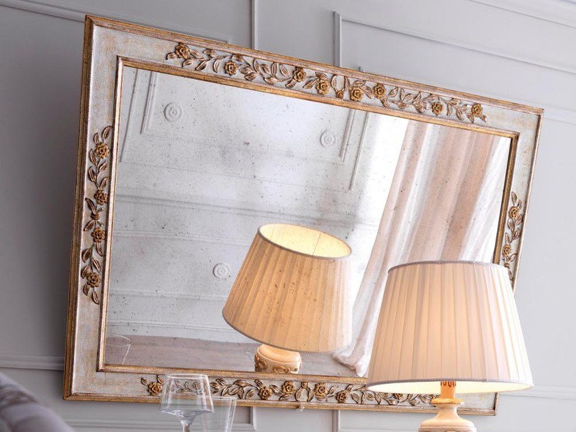 Wall-mounted framed mirror 2441 | Mirror - Grifoni Silvano