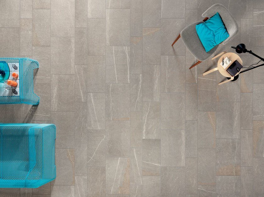 Indoor/outdoor wall/floor tiles PERCORSI SMART Pietra di Bressa by CERAMICHE KEOPE