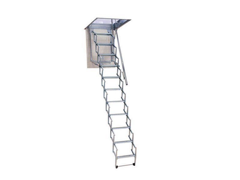 Galvanized steel Retractable stair STARLUX - LUXIN