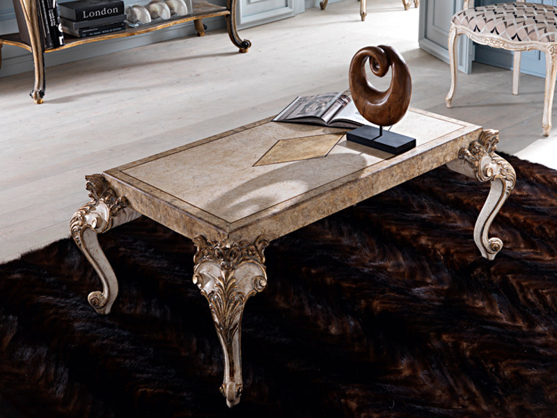 Classic style low coffee table