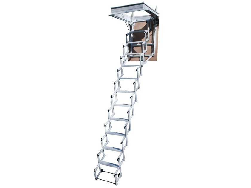 Steel Retractable stair STARLUX ELEGANT - LUXIN