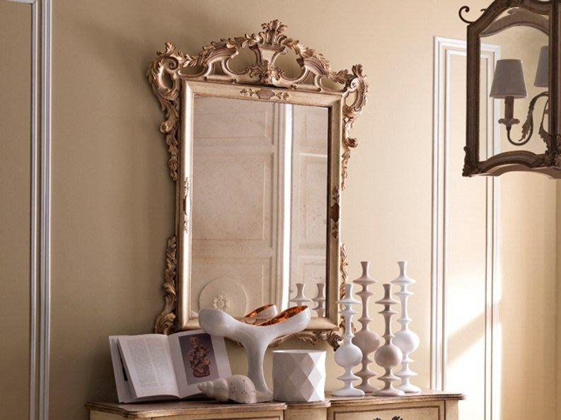 Wall-mounted framed mirror 2458 | Mirror - Grifoni Silvano
