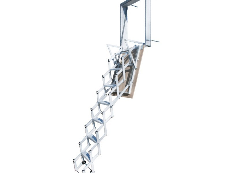 Steel Retractable wall stair STARLUX ELEGANT - LUXIN