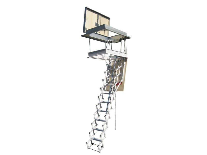 Steel Retractable terrace stair STARLUX ELEGANT - LUXIN