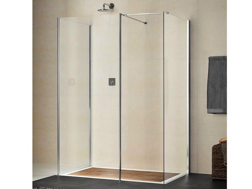 Rectangular crystal shower cabin