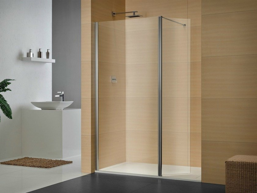 Rectangular crystal shower cabin LIBERO 4000 by DUKA