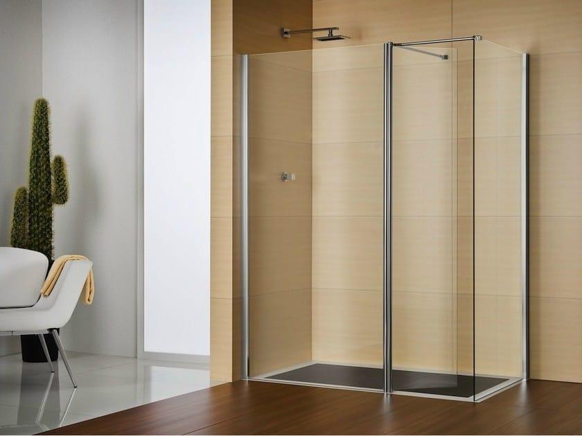 Box doccia rettangolare in cristallo libero 4000 by duka for Duka cabine doccia