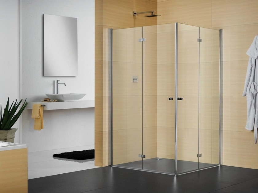 Box doccia in cristallo con porte a soffietto multi s 4000 duka - Cabine doccia a soffietto ...