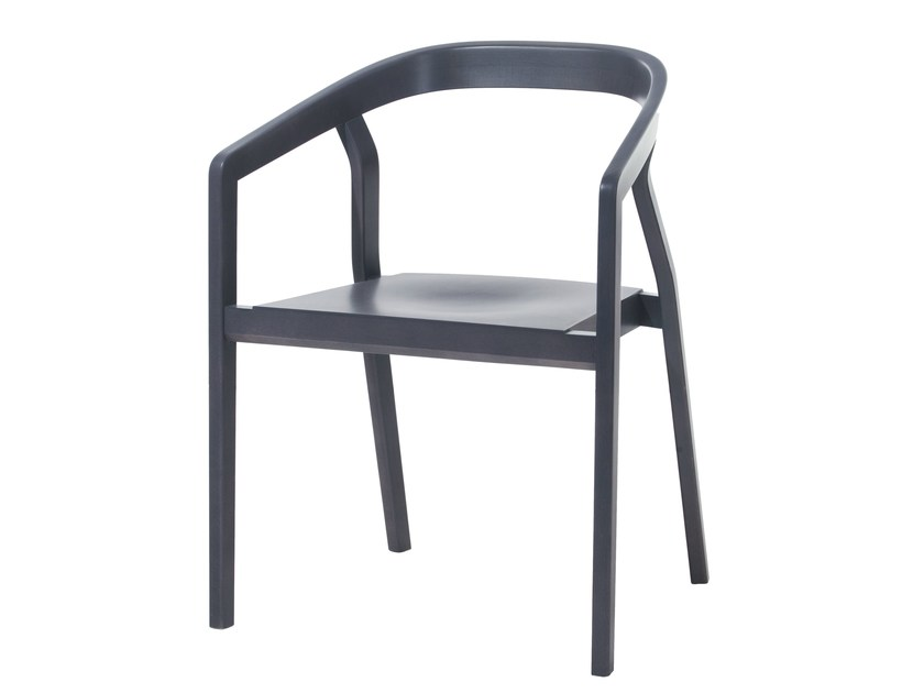Wooden chair with armrests ONE | Chair with armrests - TON
