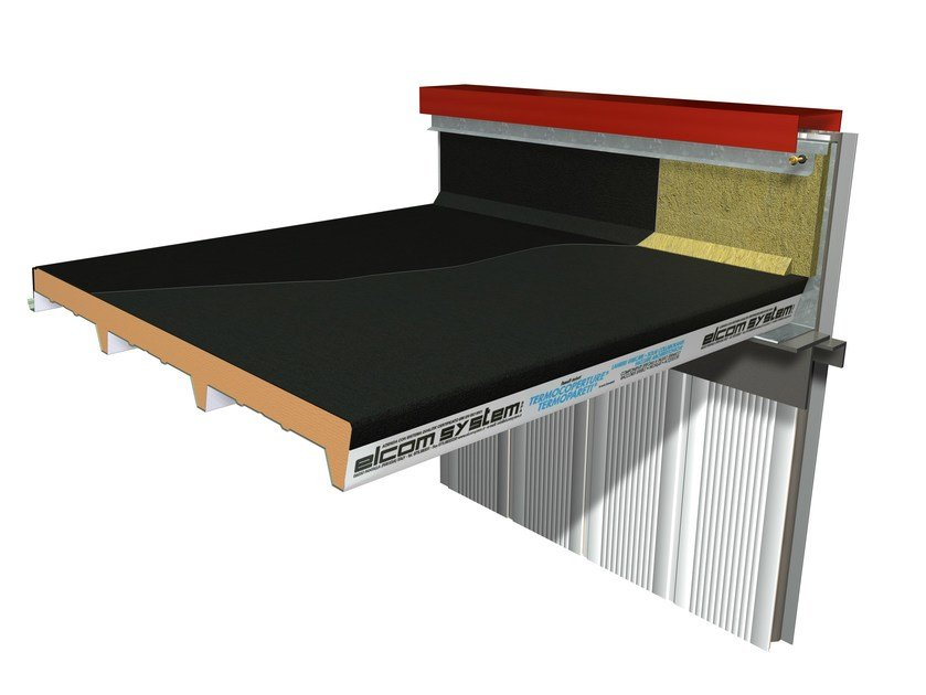 Insulated metal panel for roof TERMOCOPERTURE® RP/ST FLEX-DECK by ELCOM SYSTEM