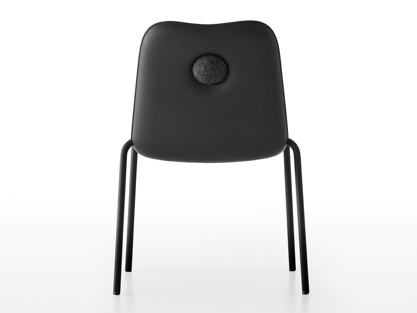 Stackable polypropylene chair BOUM IN BLACK by Kristalia