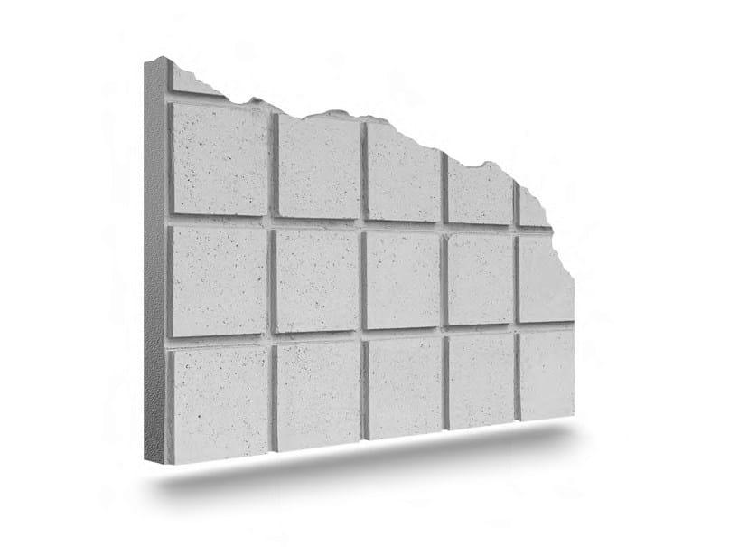 Matrix for fair faced concrete wall QUBIK by PLASMACEM