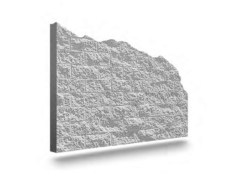 Matrix for fair faced concrete wall PIETRAGLIA by PLASMACEM