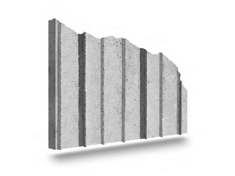 Matrix for fair faced concrete wall LINEAR by PLASMACEM