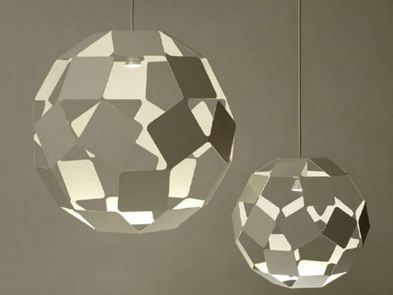 Steel pendant lamp DANCING SQUARE LAMP - Specimen Editions