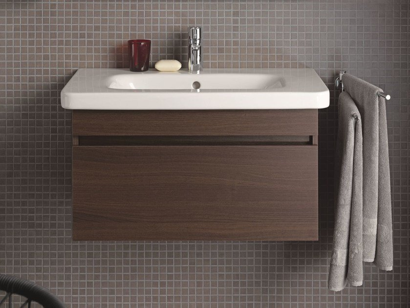 Wall-mounted wooden vanity unit DURASTYLE | Vanity unit by Duravit