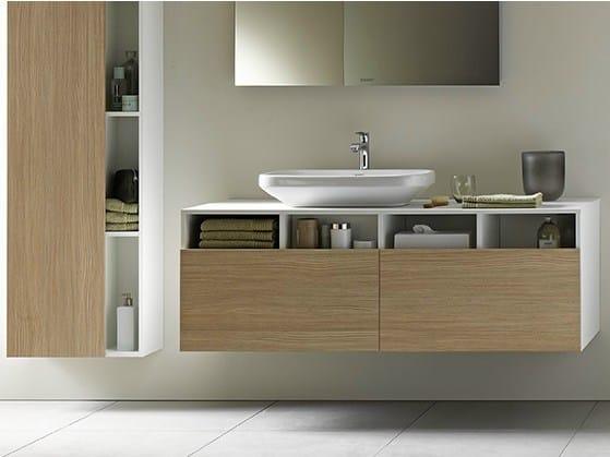 Mobile lavabo sospeso in legno durastyle mobile lavabo duravit - Waschtischunterschrank holz ...