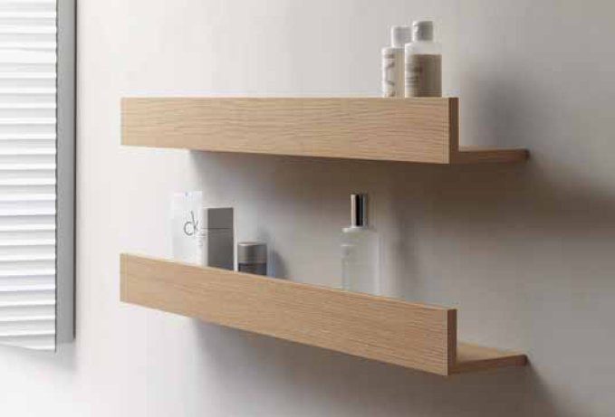 Wooden bathroom Wall Shelf