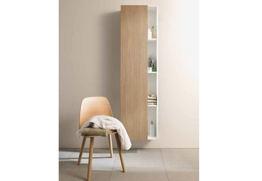 Storage suspended wooden bathroom cabinet DURASTYLE | Suspended bathroom cabinet by Duravit