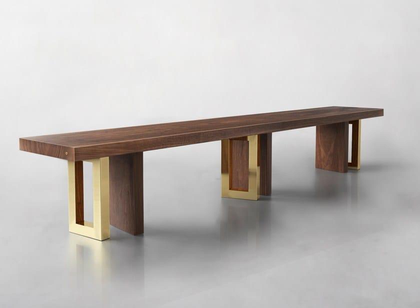 Solid wood bench IL PEZZO 6 | Bench by Il Pezzo Mancante