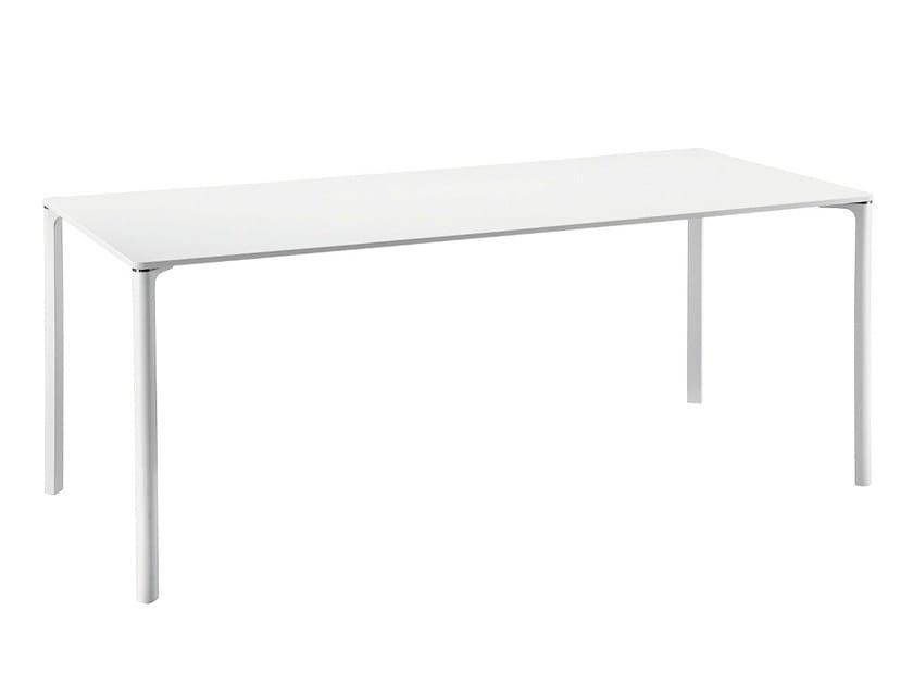Rectangular lacquered glass table SPILLO 2524 - Zanotta