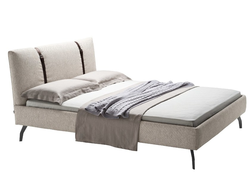 Double bed with upholstered headboard LEGAMI - Zanotta