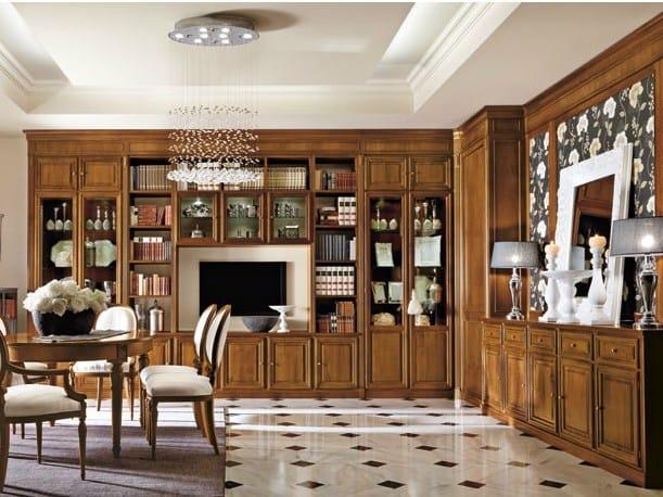 Classic style walnut storage wall FORTE DEI MARMI - Martini Mobili