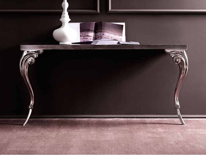 Rectangular wooden console table